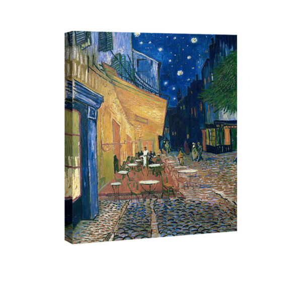 Van Gogh Painting Repro Canvas Print Wall Art Home Decor Cafe Terrace on Place