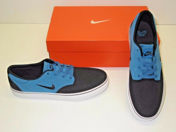 Nike SB Clutch Canvas Black & Blue Skate Casual Athletic Sneakers Shoes Mens 9