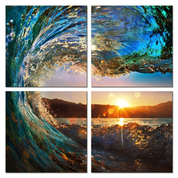 Canvas Print Painting Picture Wall Art Home Decor Poster Photo Landscape Waves