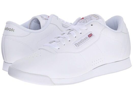Reebok Princess White 1475 Women's Classic Leather Shoes Sneakers