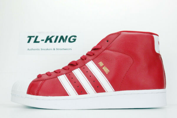 Adidas Originals Pro Model Scarlet Red White Gold Shell Toe BY3726 Msrp $90 Go