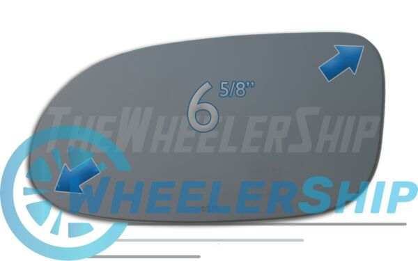 New Mirror Glass Replacements For Mercedes CLK, SLK, SL, Driver Left Side