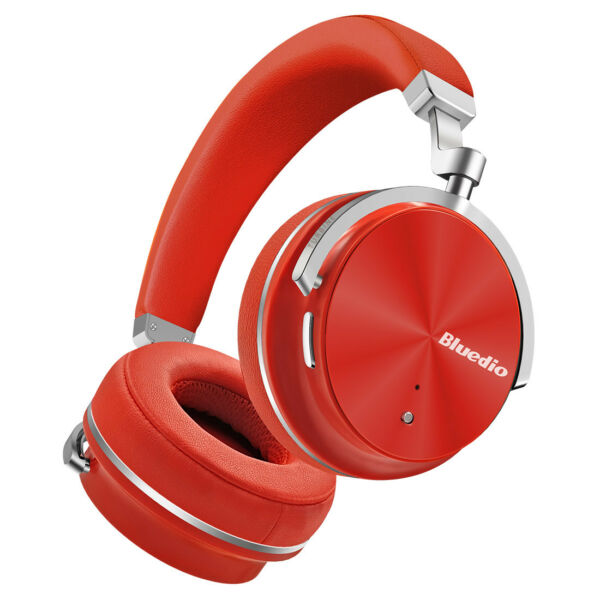 Bluedio T4S Wireless Bluetooth Headphone Noise Cancelling Stereo Mic-Headset/Red