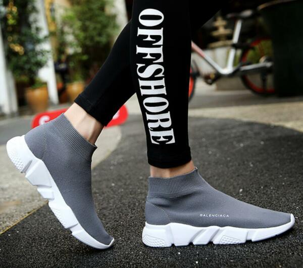 Hot Sale Mens Pointed Toe Ankle Stretchy Boots Walk Sneakers Socks Shoes EU39-44