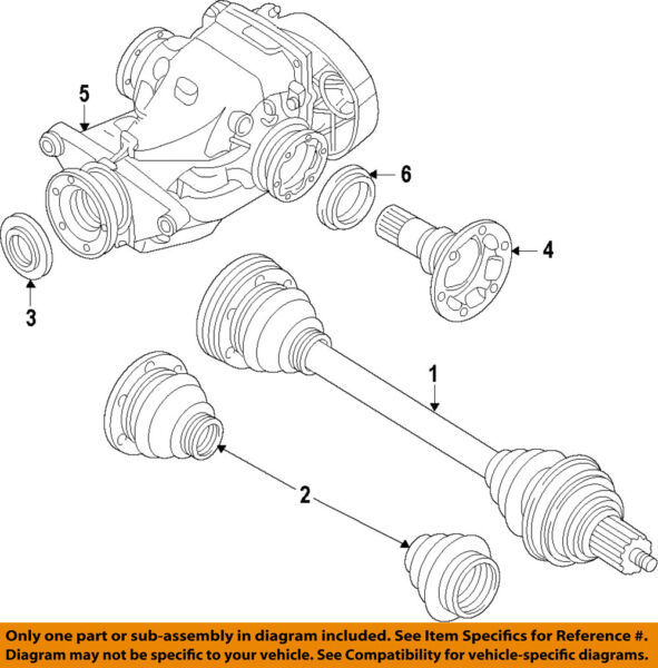 BMW OEM 09-16 X5 Rear-Axle Assembly or CV Shaft 33208609839