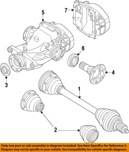 BMW OEM 11-14 535i xDrive Rear-Axle Assembly or CV Shaft 33207581029