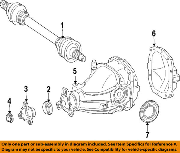 Mercedes MERCEDES-BENZ OEM 2007 S600 Rear-Axle Assembly or CV Shaft 2213502610