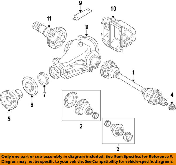 BMW OEM 12-15 335i Rear-Axle Assembly or CV Shaft 33207597685