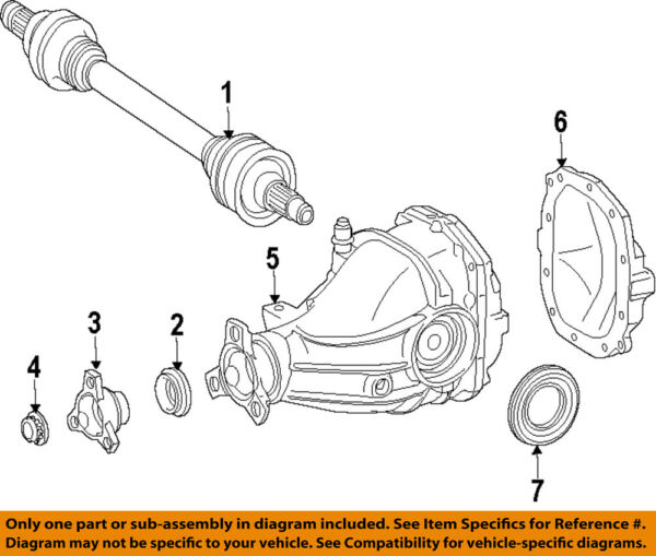 Mercedes MERCEDES-BENZ OEM SL65 AMG Rear-Axle Assembly or CV Shaft 2313507400
