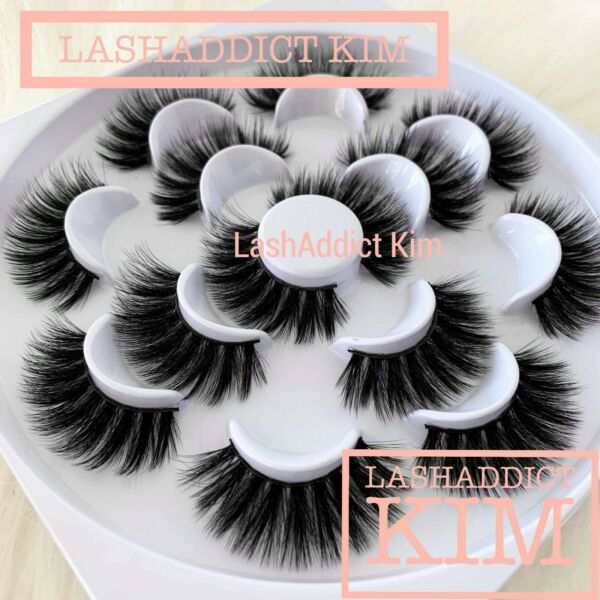 10  5 Pair Mink Lashes & Silk Eyelashes Set Make Up 🎀 US SELLER