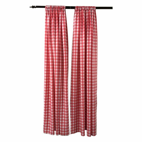 LA Linen Pack 2  Polyester Gingham Checkered Backdrop 58 by 96-Inch. Made in USA