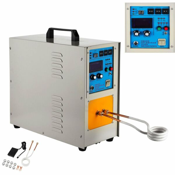 15KW 30-100KHz High Frequency Induction Heater Furnace Melting   Heating  2200 ℃