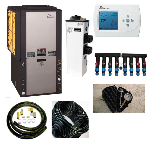Geothermal heat Pump 4 ton 2 stage Climatemaster Install Package TZV048AGD00CLTS