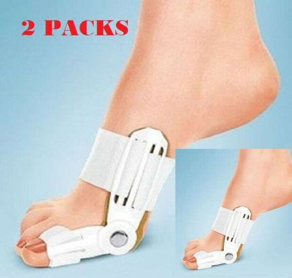 2X Big Toe Bunion Hallux Valgus Straighteners Night Splint Corrector Pain Relief