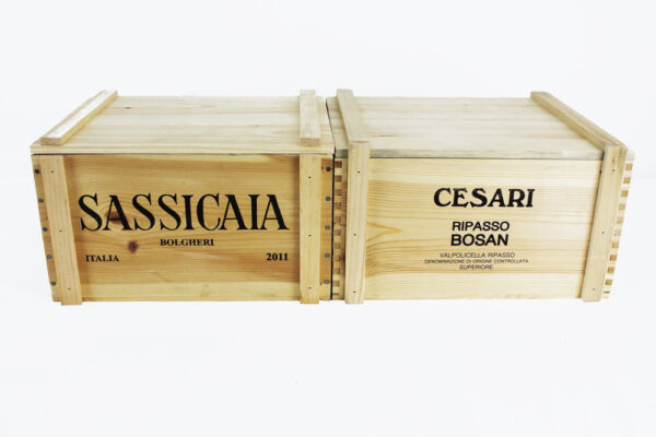 Set of 2 (Two) Re-purposed and Re-designed Italian Wooden Wine Crates