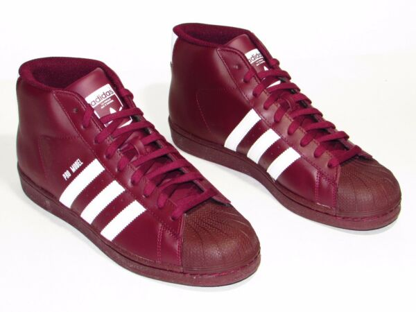 Adidas Pro Model Mens Casual Shoes Maroon B39370 Size 9.5