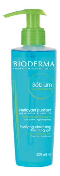 Bioderma Sebium Foaming Gel 6.7 fl oz 200 ml. Facial Cleanser