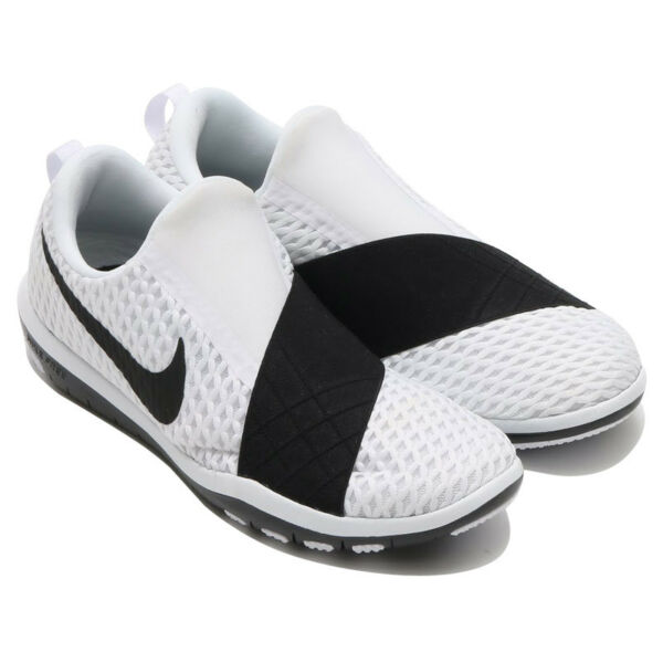 Womens Nike Free Connect Running Sneakers New, White / Black 843966-100