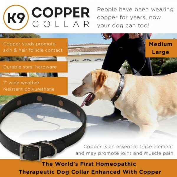 K9 Copper Collar Homeopathic amp; Therapeutic Dog Collar Joint amp; Muscle Pain relief $24.95