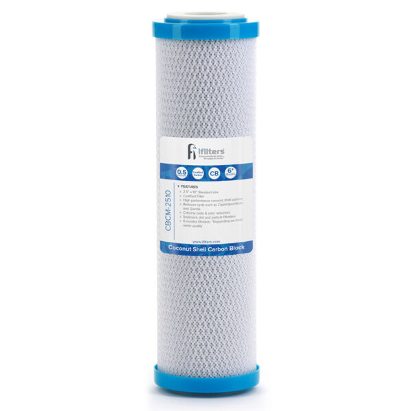 Coconut Shell CTO Cyst Carbon Block Drinking Water Filter 2.5 x 10 0.5 Micron $19.99