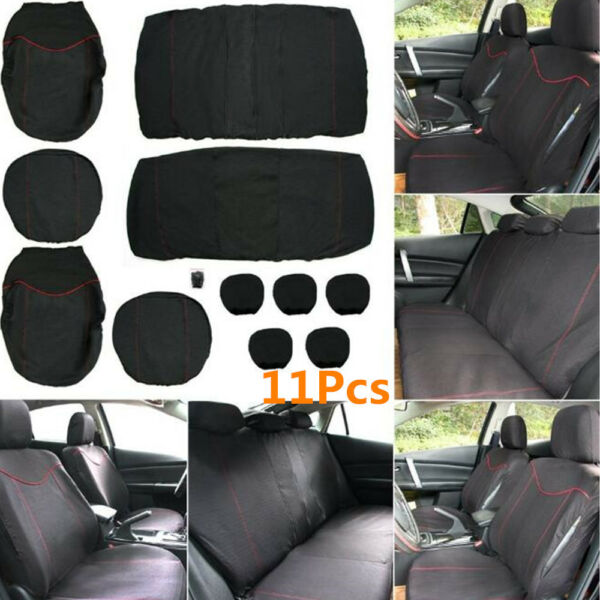 11x Full Set Front amp; Rear Car Seat Protector Cover Interior Accessories Back Set