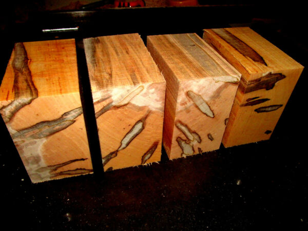 FOUR 4 BEAUTIFUL AMBROSIA MAPLE BOWL BLANKS LUMBER WOOD LATHE CARVE 6 X 6 X 3quot; $53.95