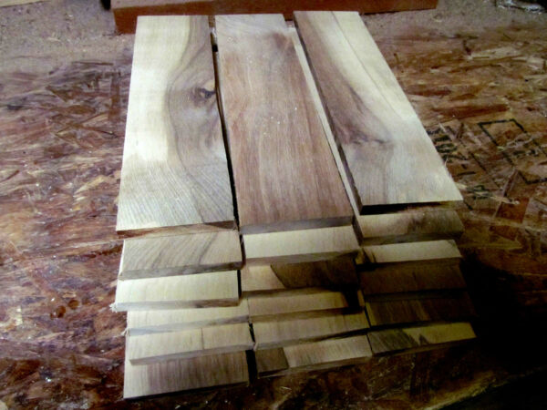 PACKAGES OF THIN PREMIUM KILN DRIED SANDED HICKORY LUMBER