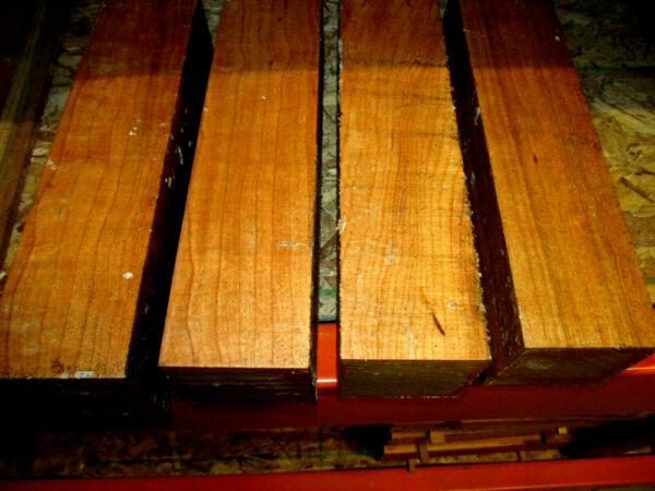 FOUR 4 BLACK CHERRY TURNING BLANKS LATHE WOOD BLOCKS LUMBER 3 X 3 X 12quot; $39.95
