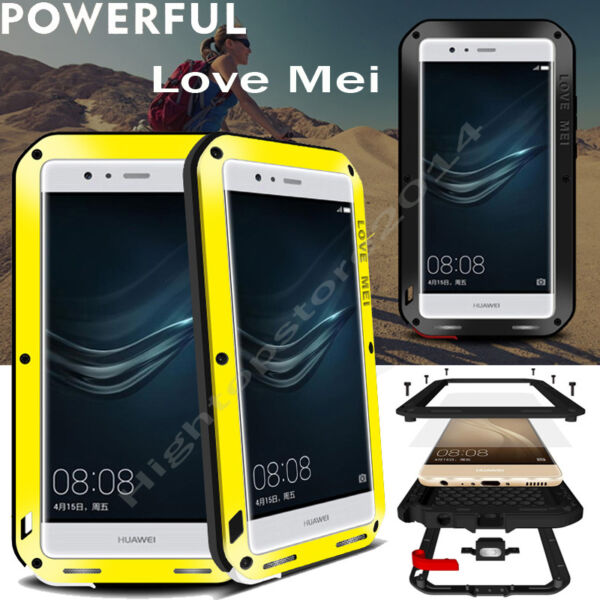 Love Mei Outdoor Hybrid Aluminum Military Scratch Glass Armor Heavy Cover Case $32.99