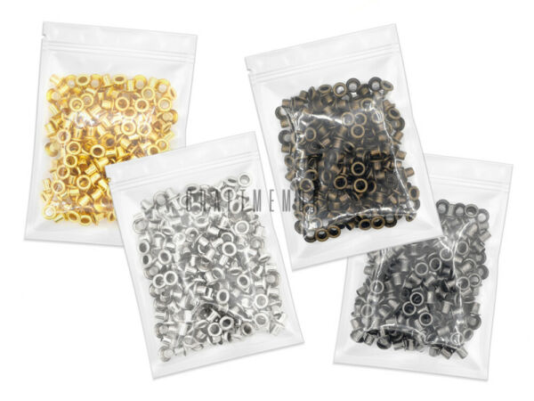 2mm 3mm Grommets Eyelets Self Backing Bead Cores Clothes Leather Canvas 200 pack