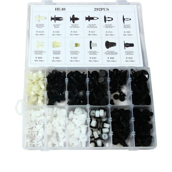 FOR TOYOTA 292 PCS FENDER DOOR HOOD BUMPER TRIM CLIPS BODY RETAINER ASSORTMENT
