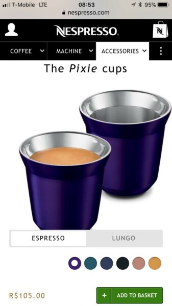 Pixie Nespresso Cup Set new