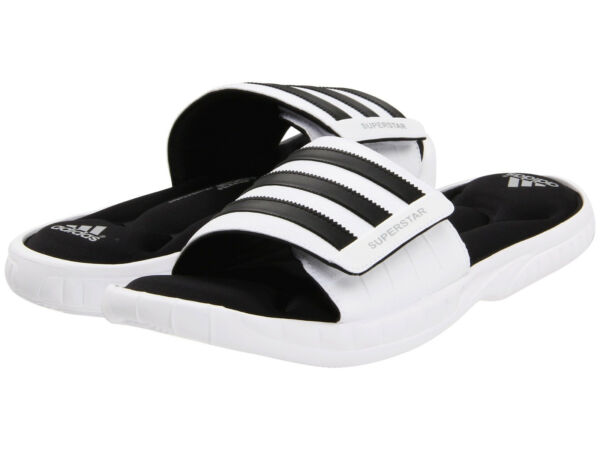 Mens Adidas Superstar 3G White Slides Athletic Sport Sandals G61951 Size 11