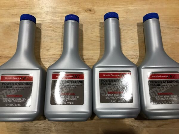 HONDA GENUINE POWER STEERING FLUID 4 BOTTLES 12 OZ NEW ACCORD CIVIC CR-V