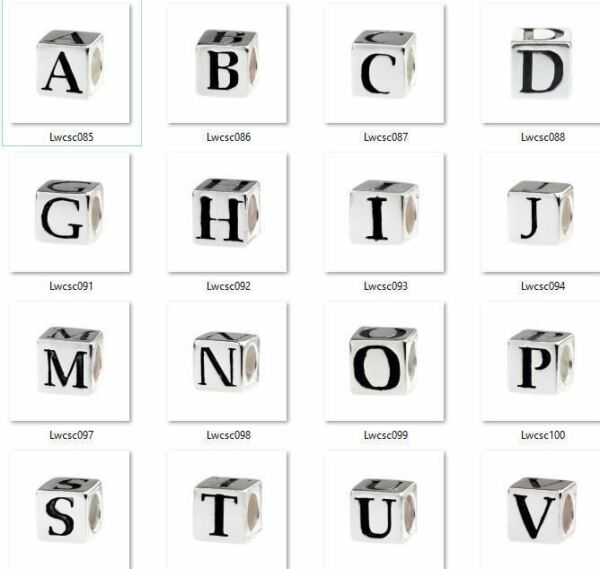 Beads Hunter Genuine .925 Sterling Authentic Silver Alphabet Initial A-Z Letter