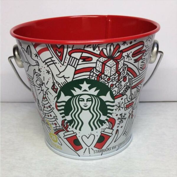Starbucks Coffee 2017 VIA HOLIDAY Christmas Bucket cans Limited FS Japan