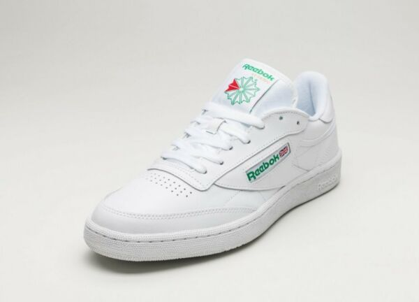Reebok Classic Club C 85 White Glen Green  Mens Casual Shoes Size 8-13 AR0456