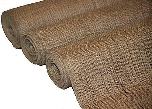 Burlapper Burlap Runner Natural Frayless Edge 12quot; x 72quot; 3 Pack 6 Yards