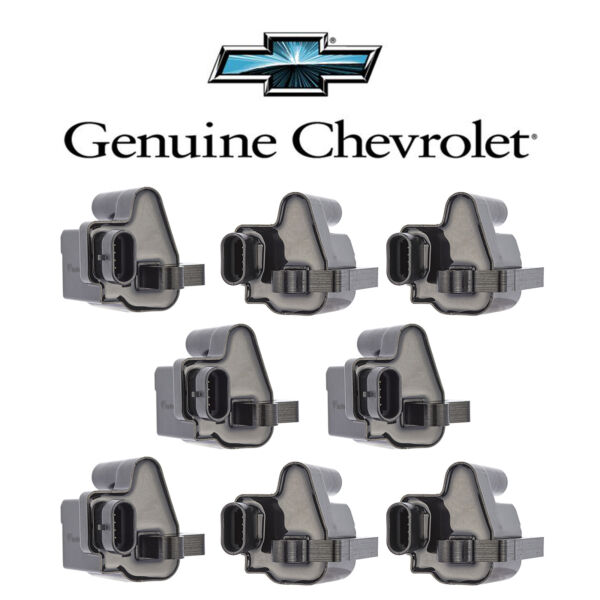 NEW Ignition Coil Pack of 8 for Chevy Silverado GMC V8 UF271 D581 C1208 12558693