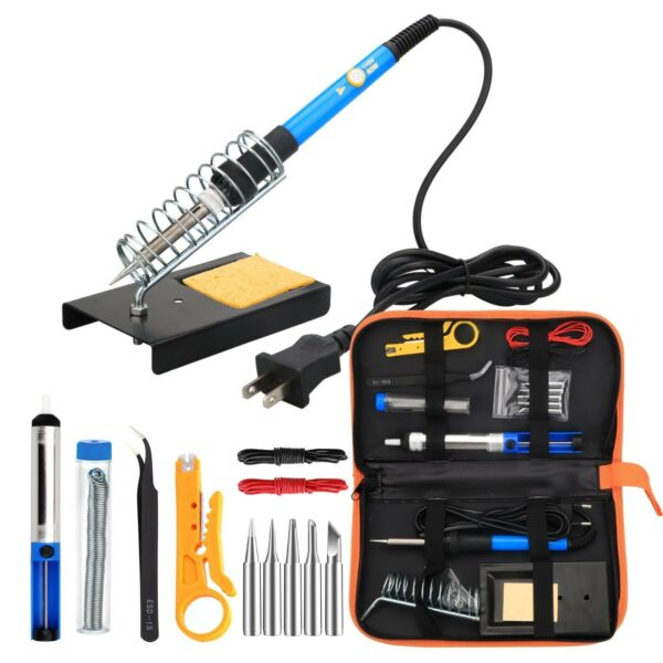 Electronic welder kit ANBES, 60W Adjustable Temperature, Desoldering Pump,5pcs