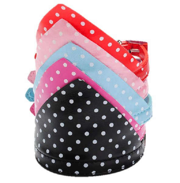 Polka Dots Hankerchief Bandana Dog Leather Collar Terrie Small Red Bowtie Small $6.26