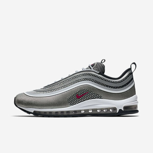 Nike Air Max 97 Ultra 17 Silver Red 918356-003 Sneakers Uomo Donna Original