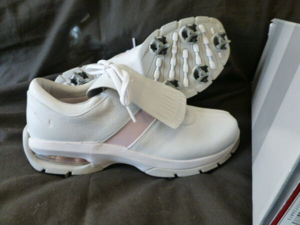 WOMENS NIKE WHITE ICE PINK WMNS SP-LS GOLF SHOES US 7.5 M UK 5 $139