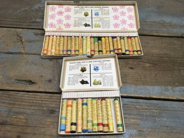 Vintage Sakura Cray-Pas Oil Colors, Oil Pastels, Made In Japan, Two Boxes