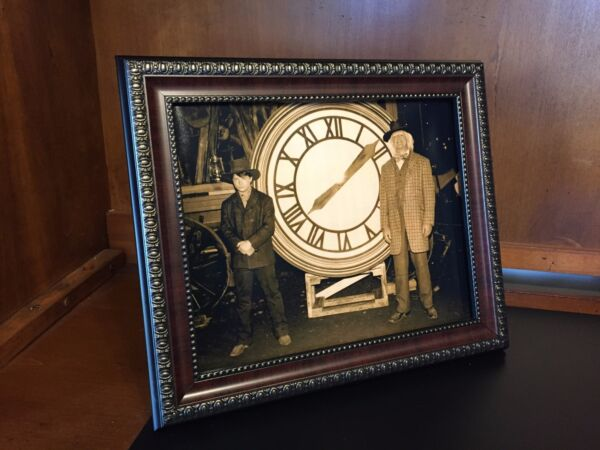 Back to the Future  - Marty & Doc with the Clock Photo Prop Reproduction 8