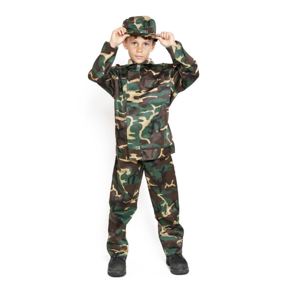 Child Kids US Army Camo Camouflage Soldier Military Marine Boy Costume Uniform $19.98