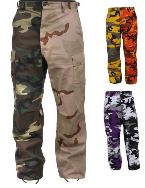 BDU Pants Two-Tone Camo Military Camouflage Rothco 1830 1840
