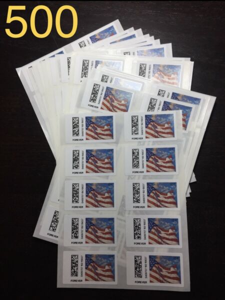 500 USPS FOREVER STAMPS - DISCOUNTED CHEAP POSTAGE -