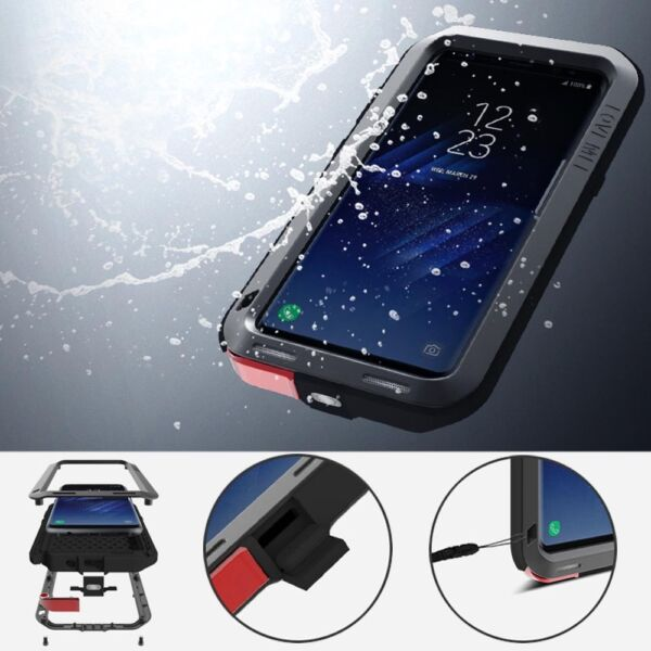 LOVE MEI Outdoor Shockproof Aluminum Metal Armor Case Cover for Galaxy Note 10+