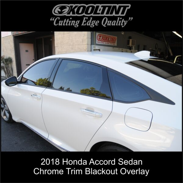 2018 2020 Honda Accord Sedan Chrome Trim blackout overlay
